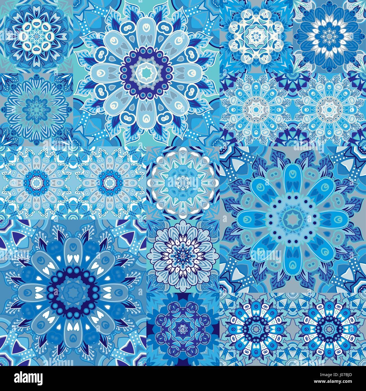 Seamless tile pattern. Colorful lisbon, mediterranean floral ...