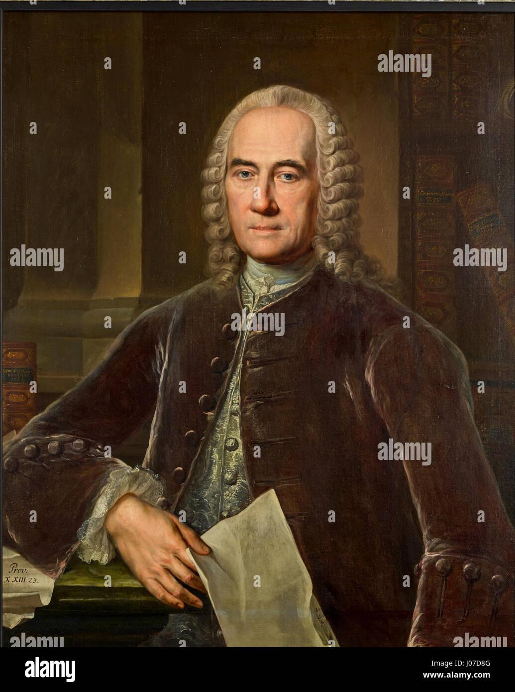 Jacob Theodor Klein Gemälde von J. Wessel - Stock Image