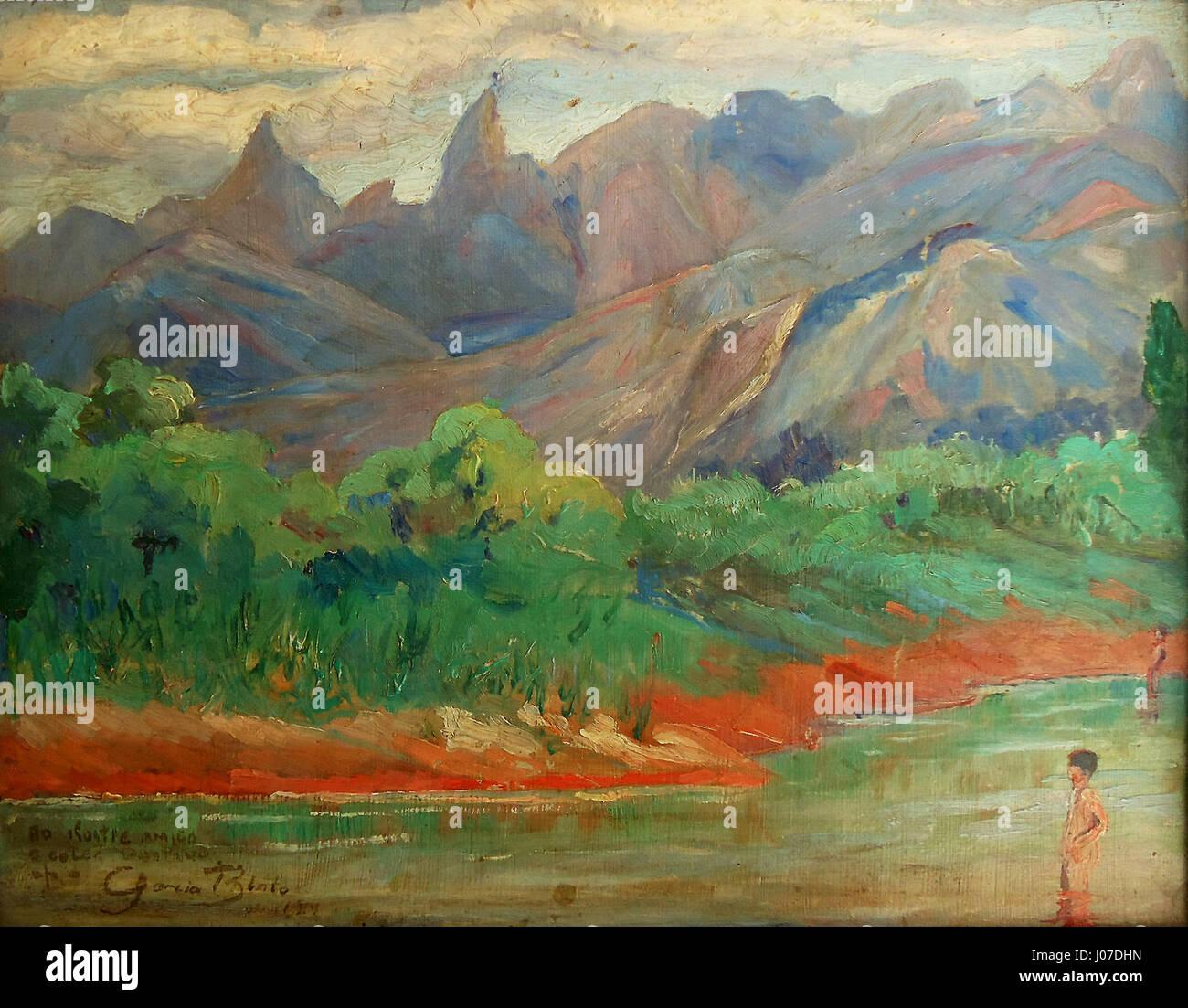 Garcia Bento, Teresópolis, óleo sobre madeira, c 1914-19, 27 x 35 cm, Photo Gedley Belchior Braga - Stock Image