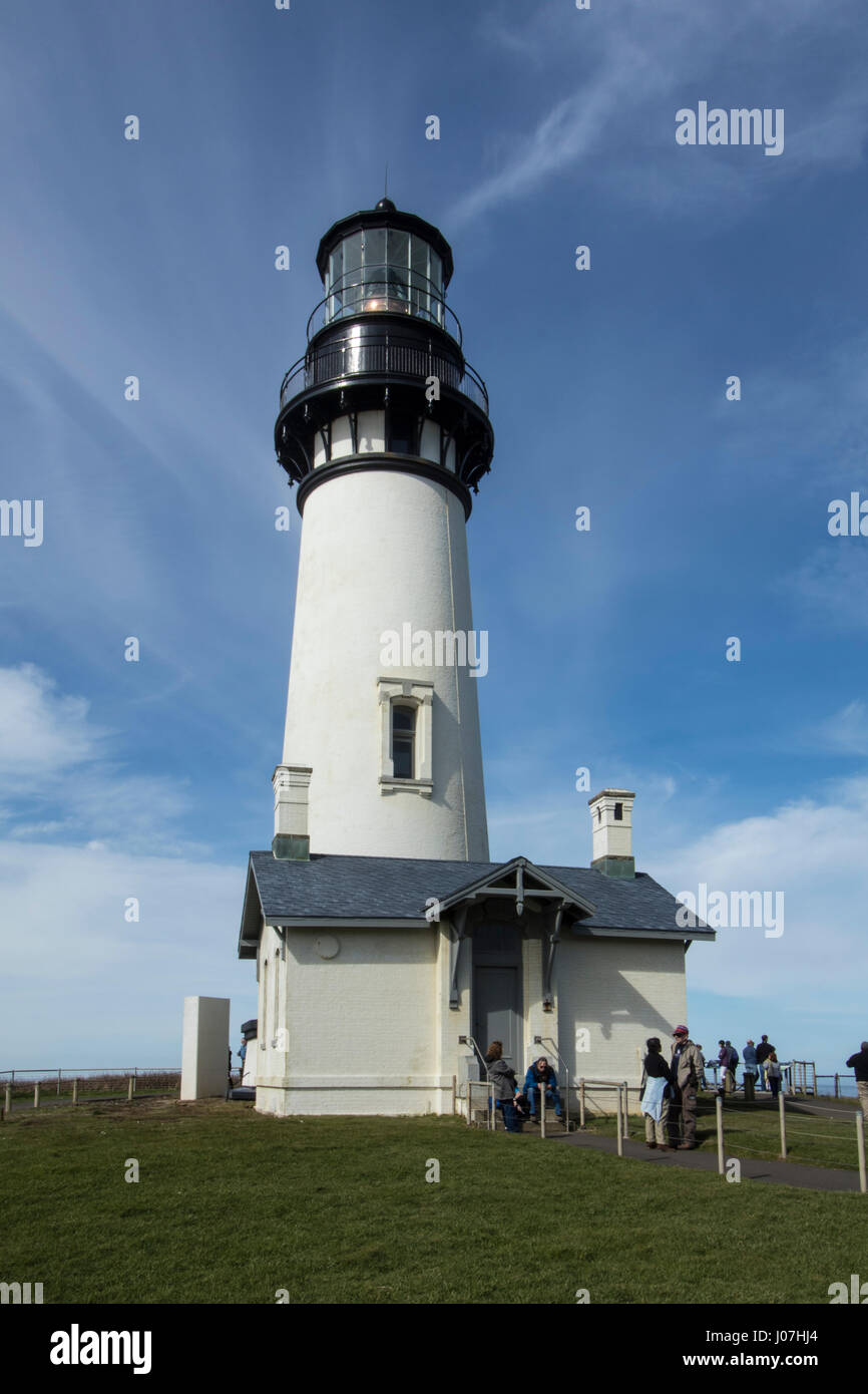Yaquina Lighthouse - Stock Image