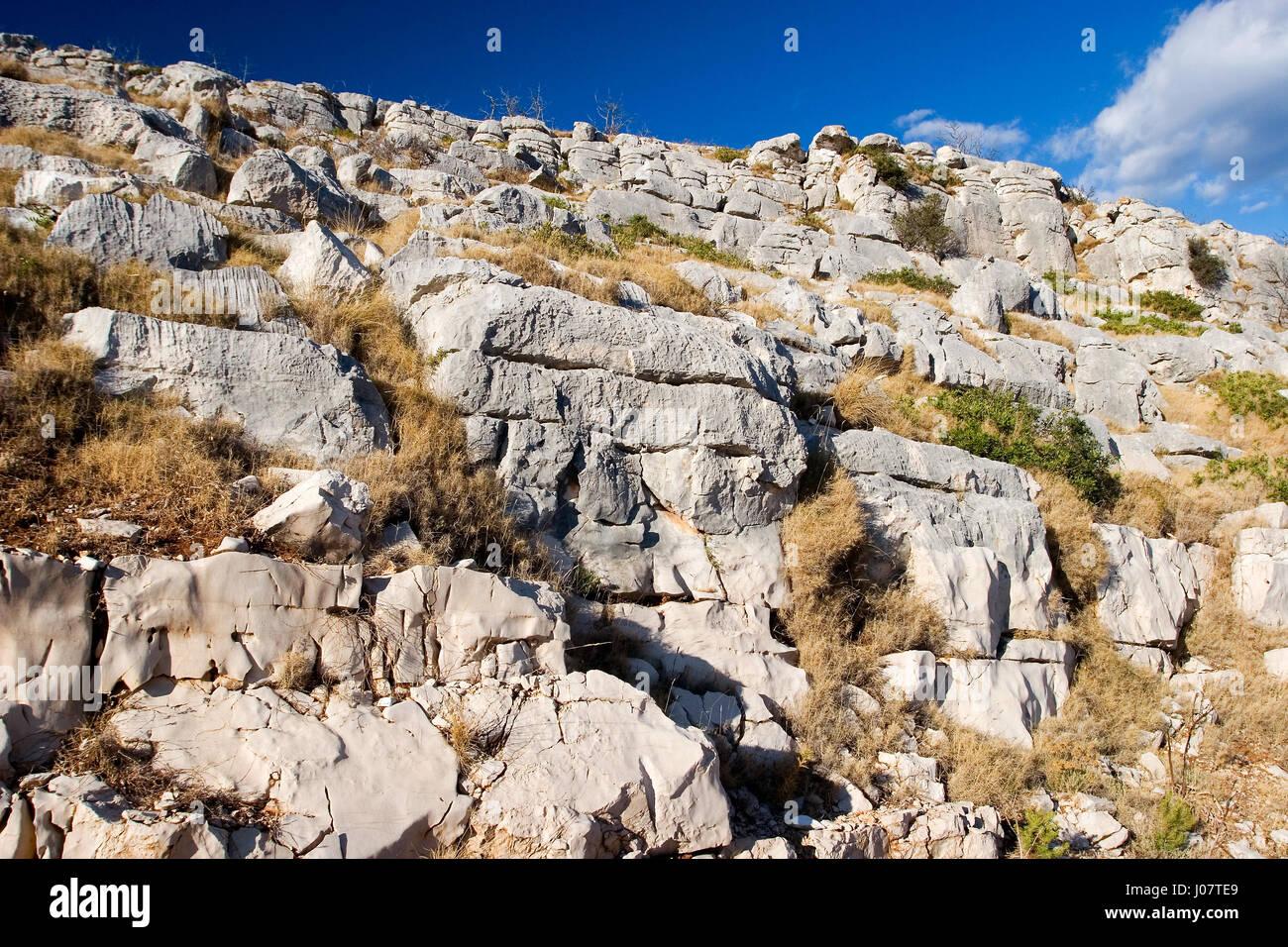 Rocks on Lastovo Island, Croatia - Stock Image