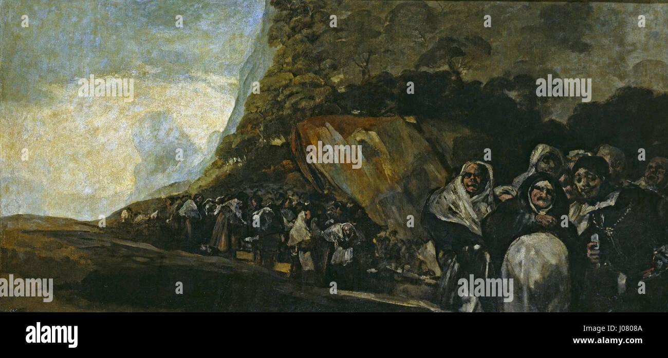 Peregrinación a la fuente de San Isidro - Stock Image