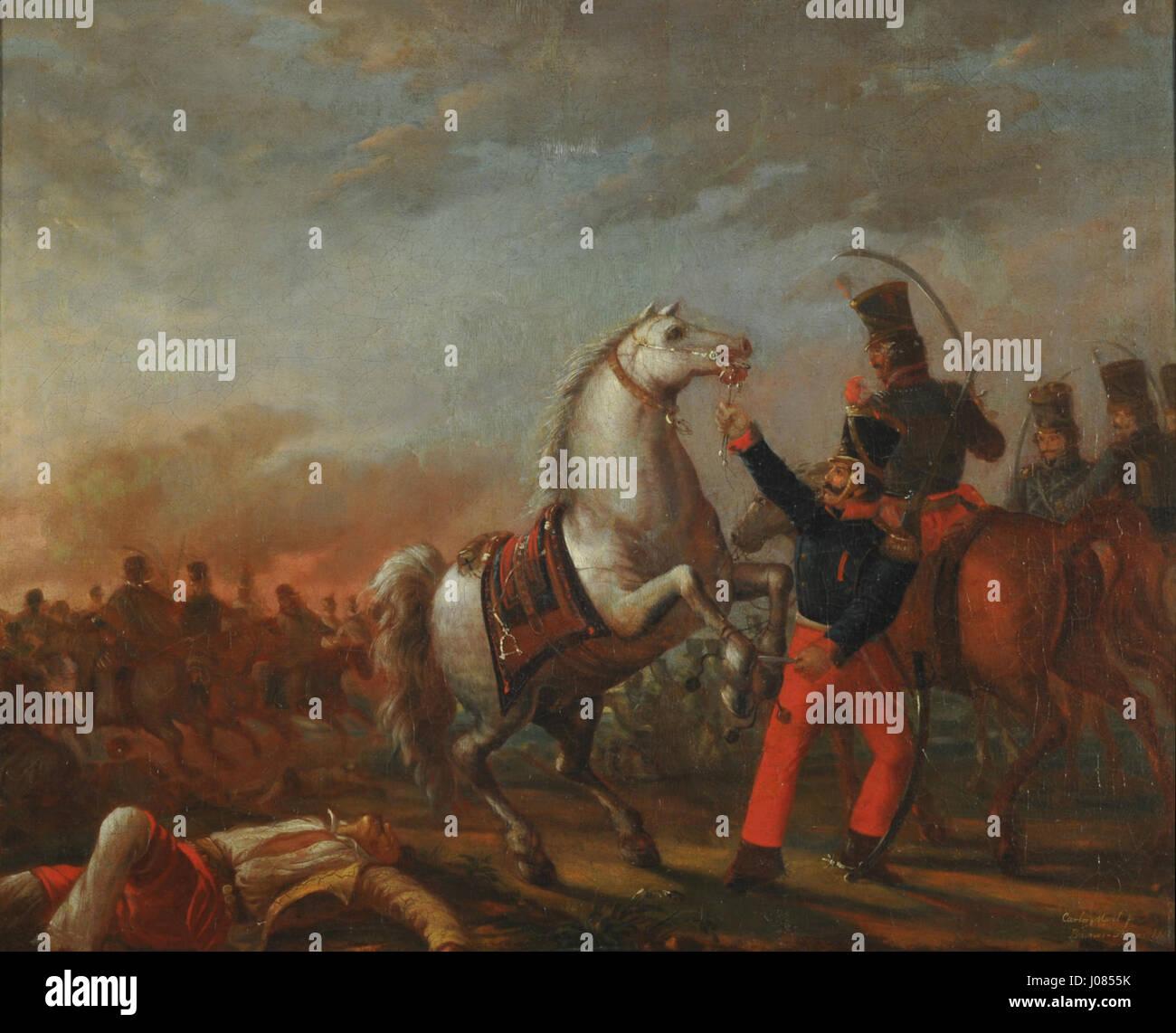Carga de caballería.mnba - Stock Image