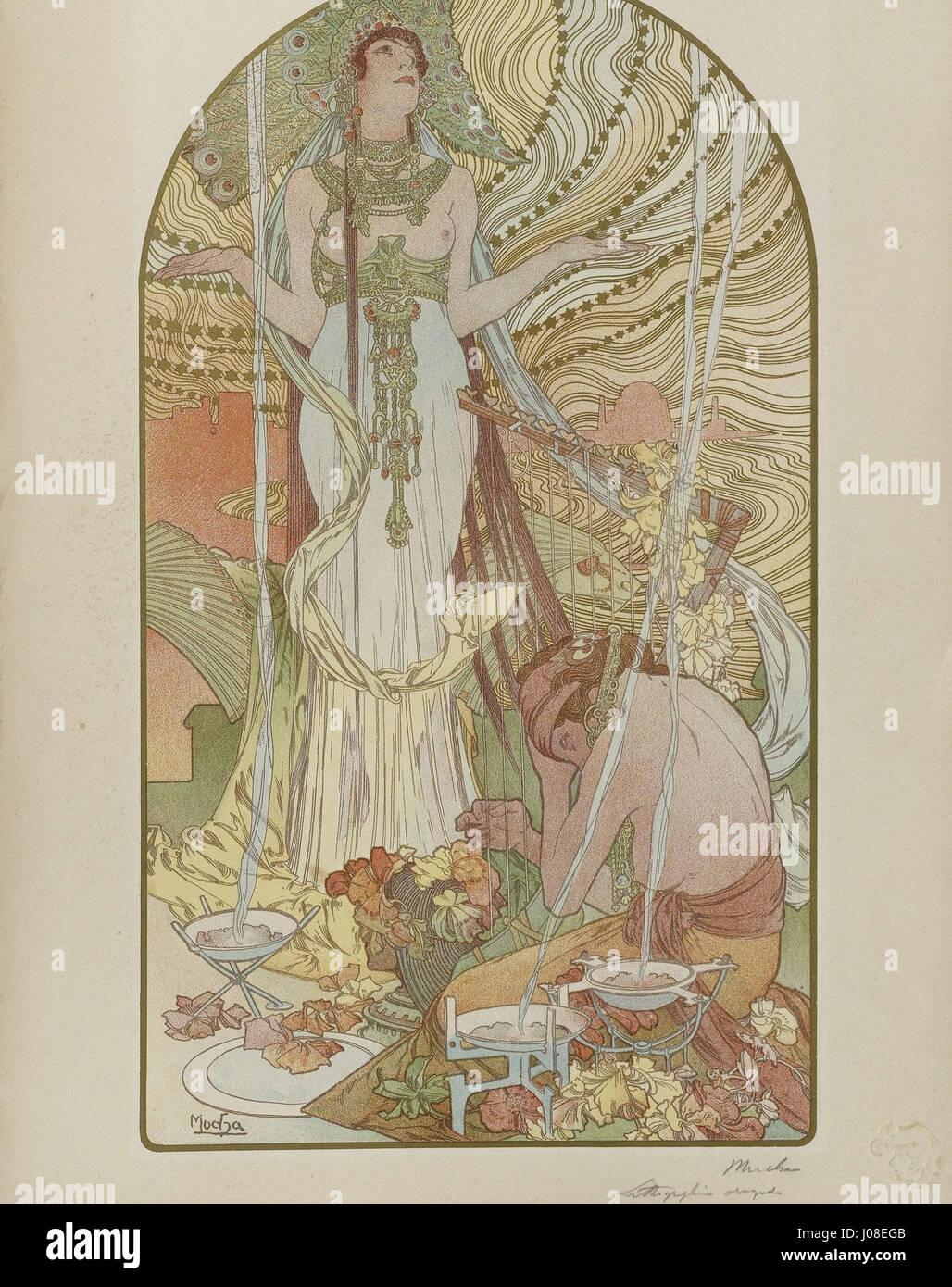 Alfons Mucha Salammbô 1897 - Stock Image