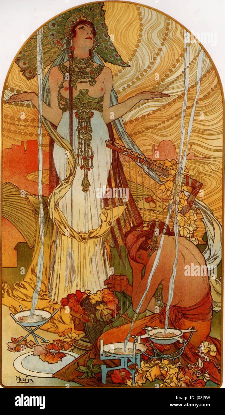 Alfons Mucha - 1896 - Salammbô - Stock Image