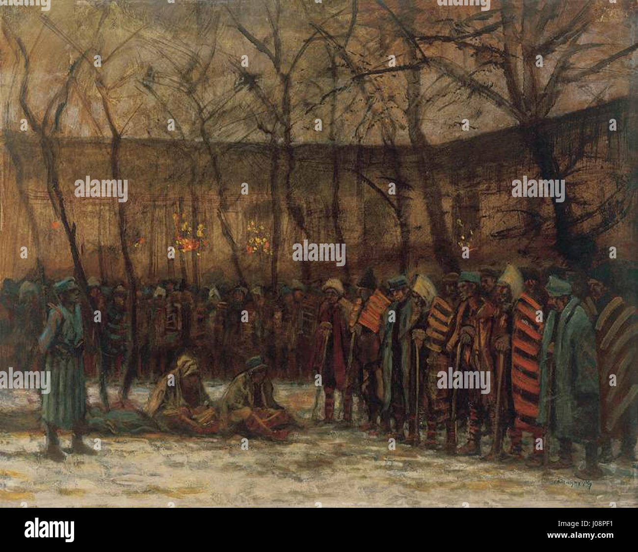 Christmas 1914.Mednyanszky Laszlo Soldiers Christmas 1914 8 Stock