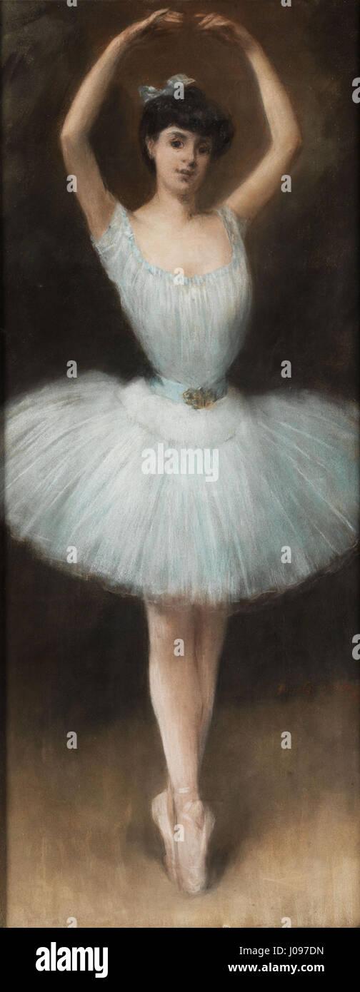 Pierre Carrier-Belleuse Die Balletttänzerin Stock Photo