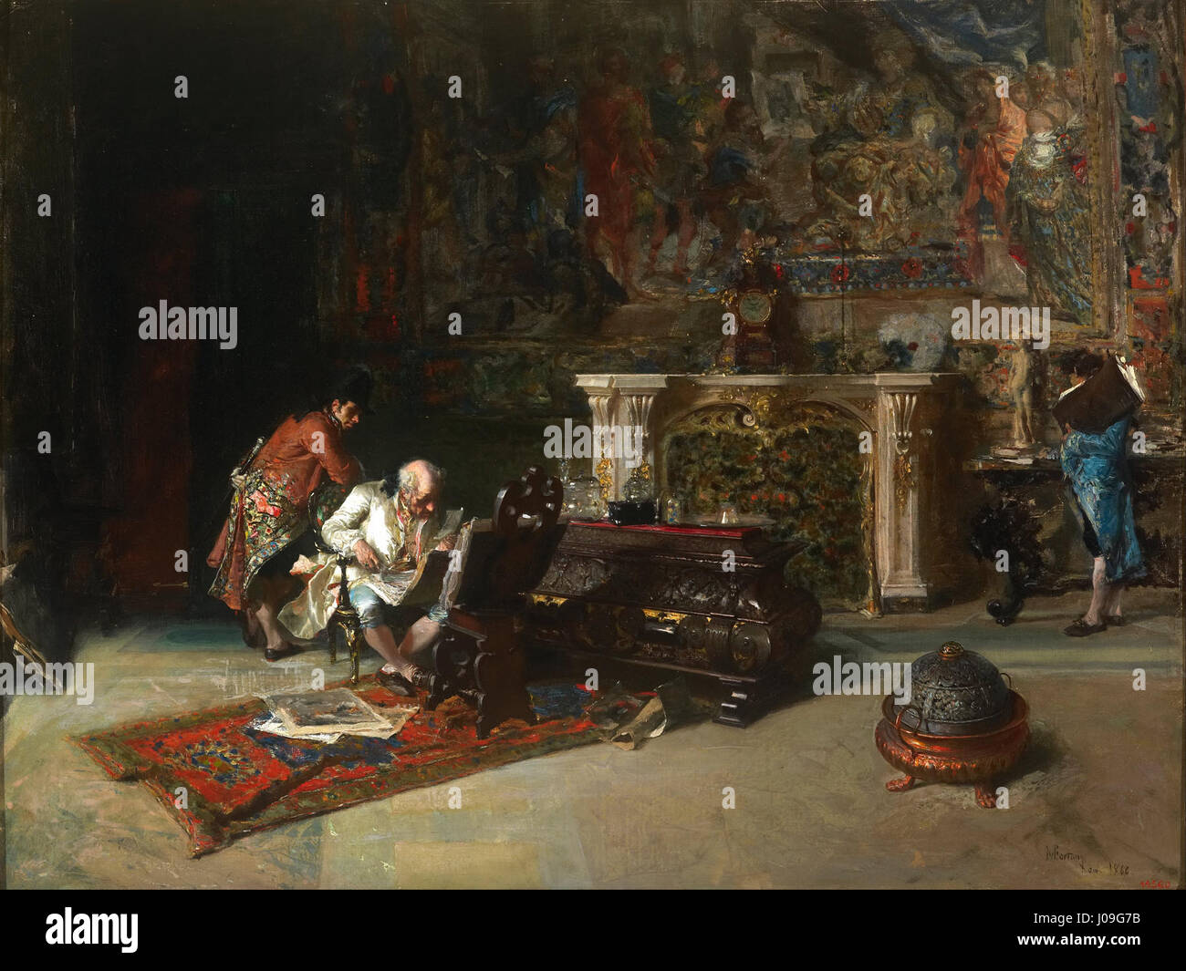 Marià Fortuny - The Print Collector - - Stock Image