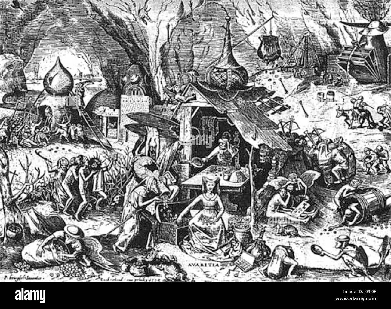 Pieter Brueghel Geiz Stock Photo