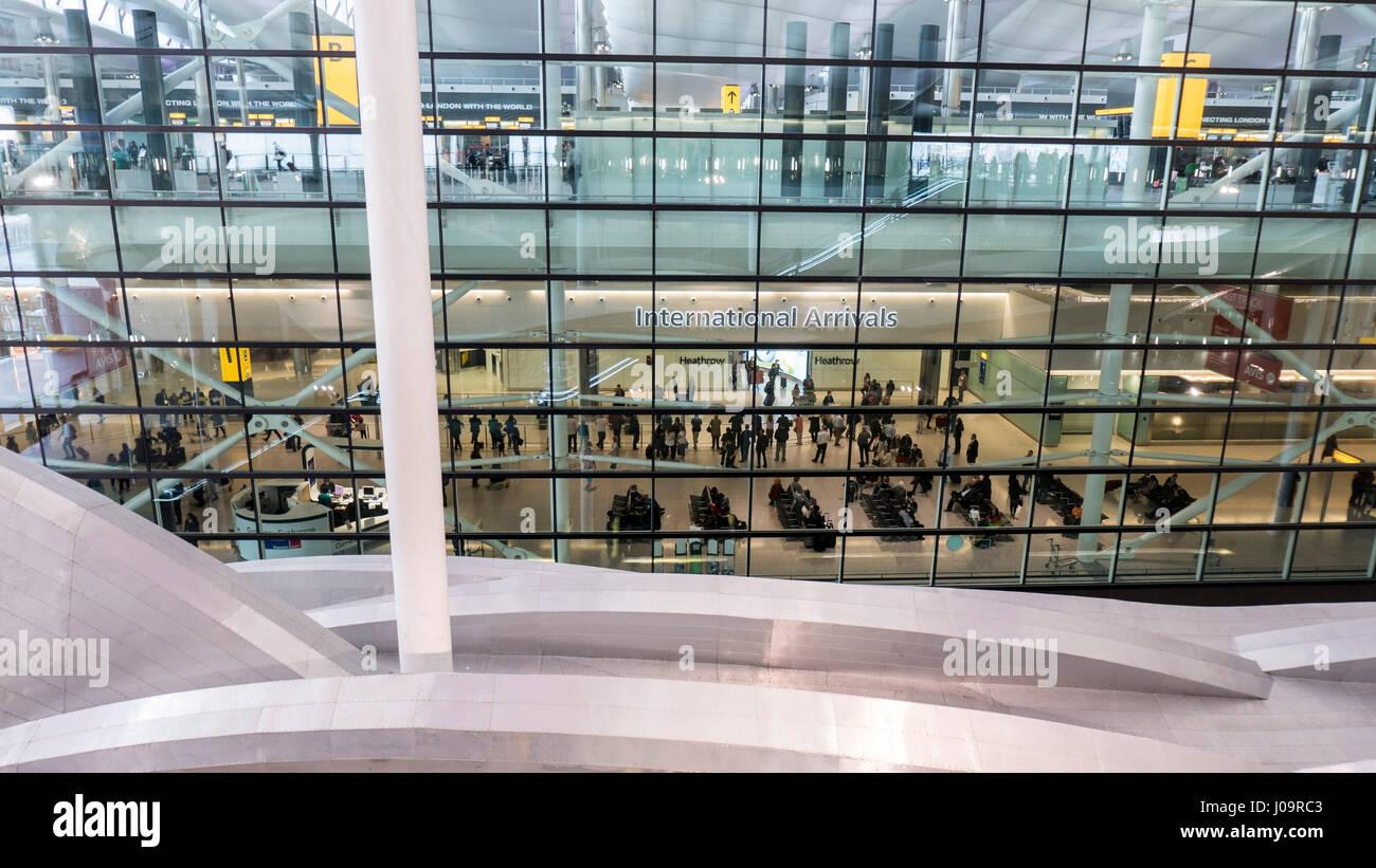 Terminal Two Heathrow Airport London - Stock Image