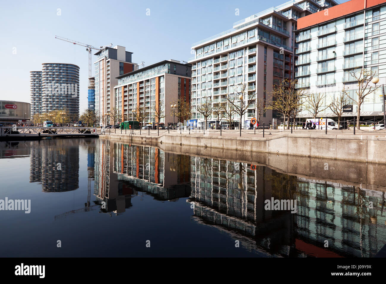 Royal Victoria Docks  Western Gateway - Stock Image