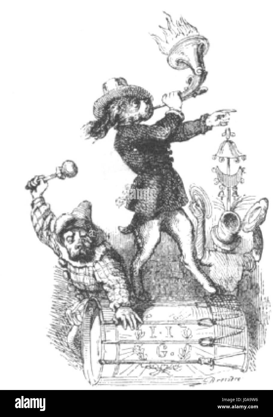 Scènes de la vie privée et publique des animaux, tome 1 0017 - Stock Image