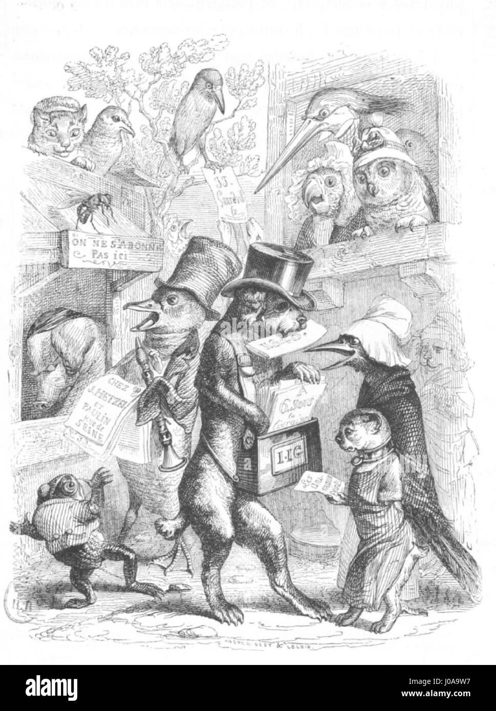 Scènes de la vie privée et publique des animaux, tome 1 0019 - Stock Image