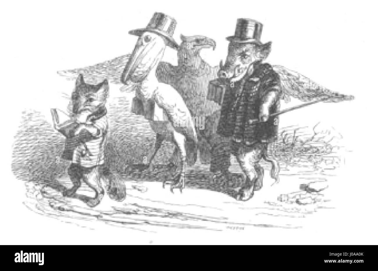 Scènes de la vie privée et publique des animaux, tome 1 0065 - Stock Image