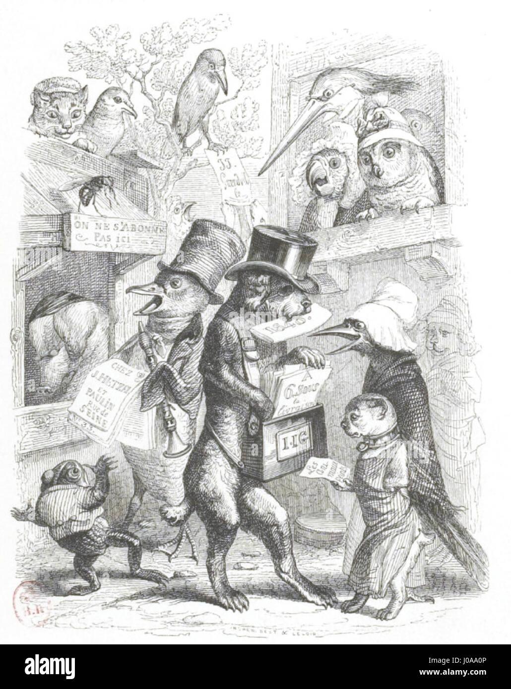 Scènes de la vie privée et publique des animaux, tome 1 0072 - Stock Image