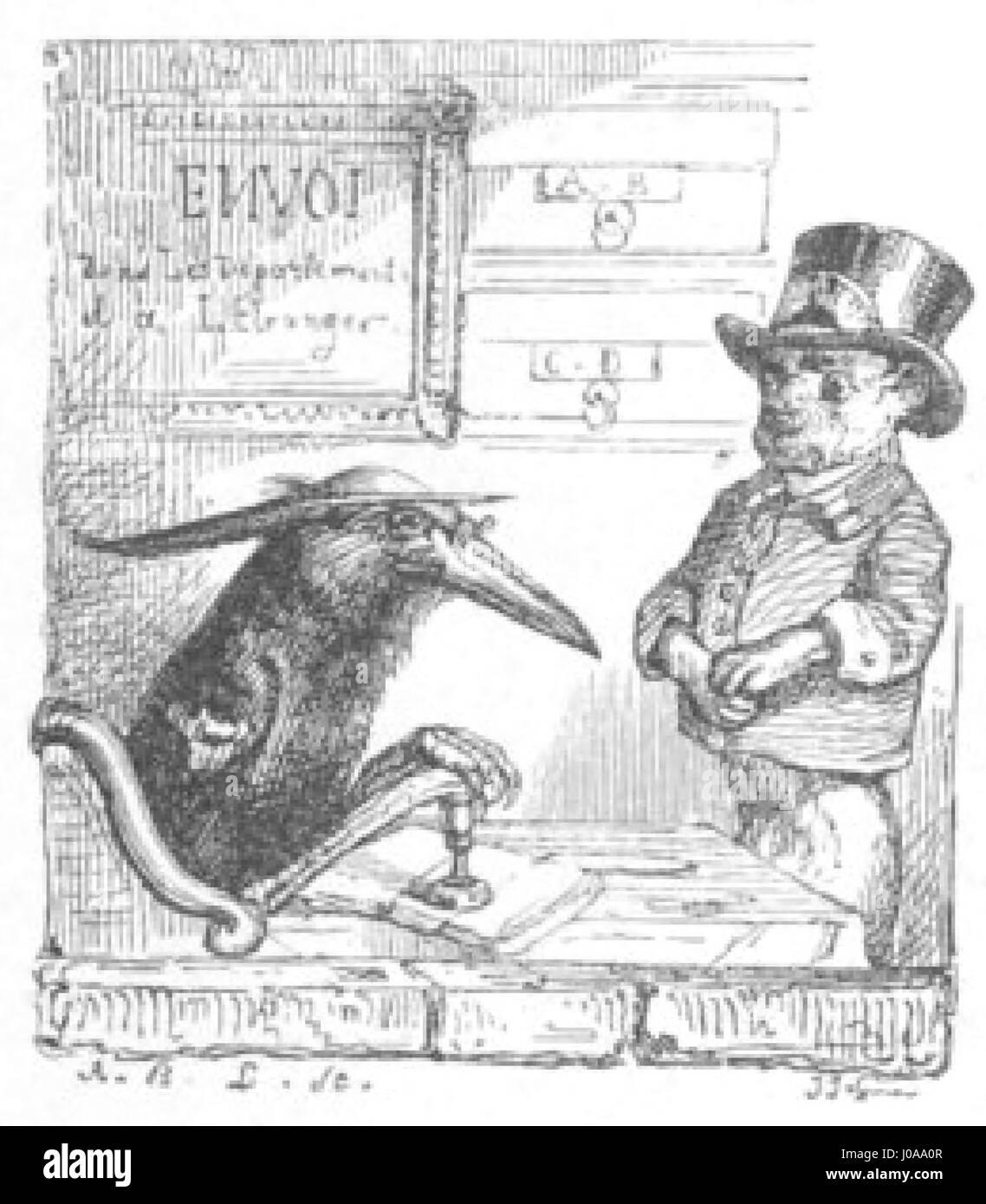 Scènes de la vie privée et publique des animaux, tome 1 0073 - Stock Image