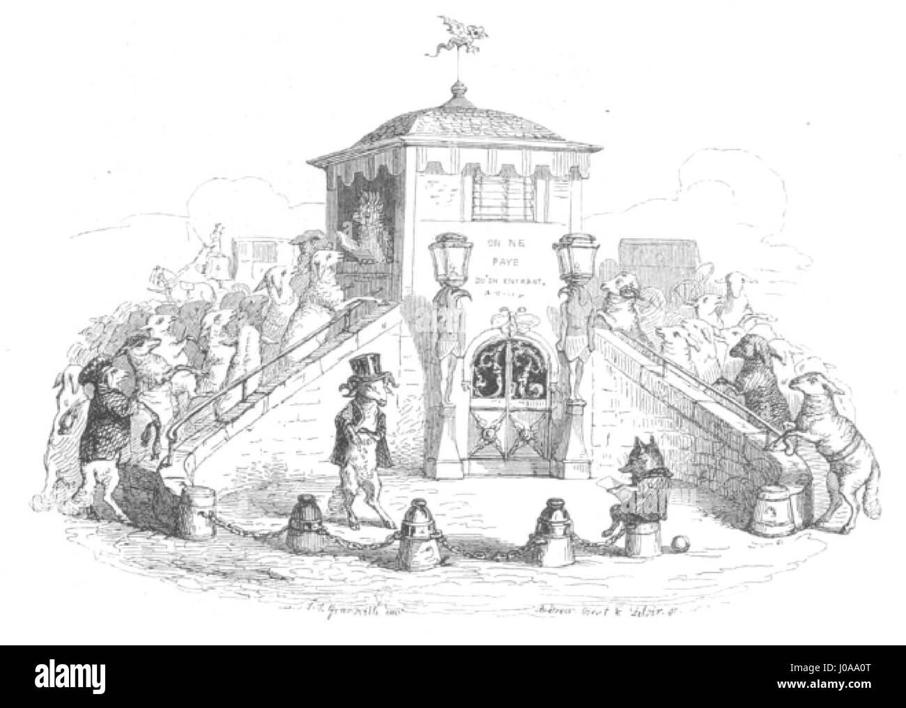 Scènes de la vie privée et publique des animaux, tome 1 0074 - Stock Image