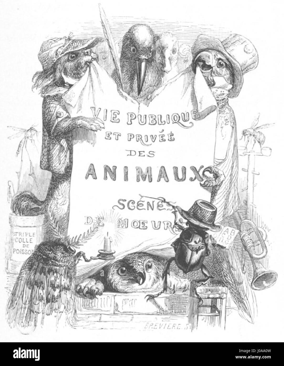 Scènes de la vie privée et publique des animaux, tome 1 0075 - Stock Image
