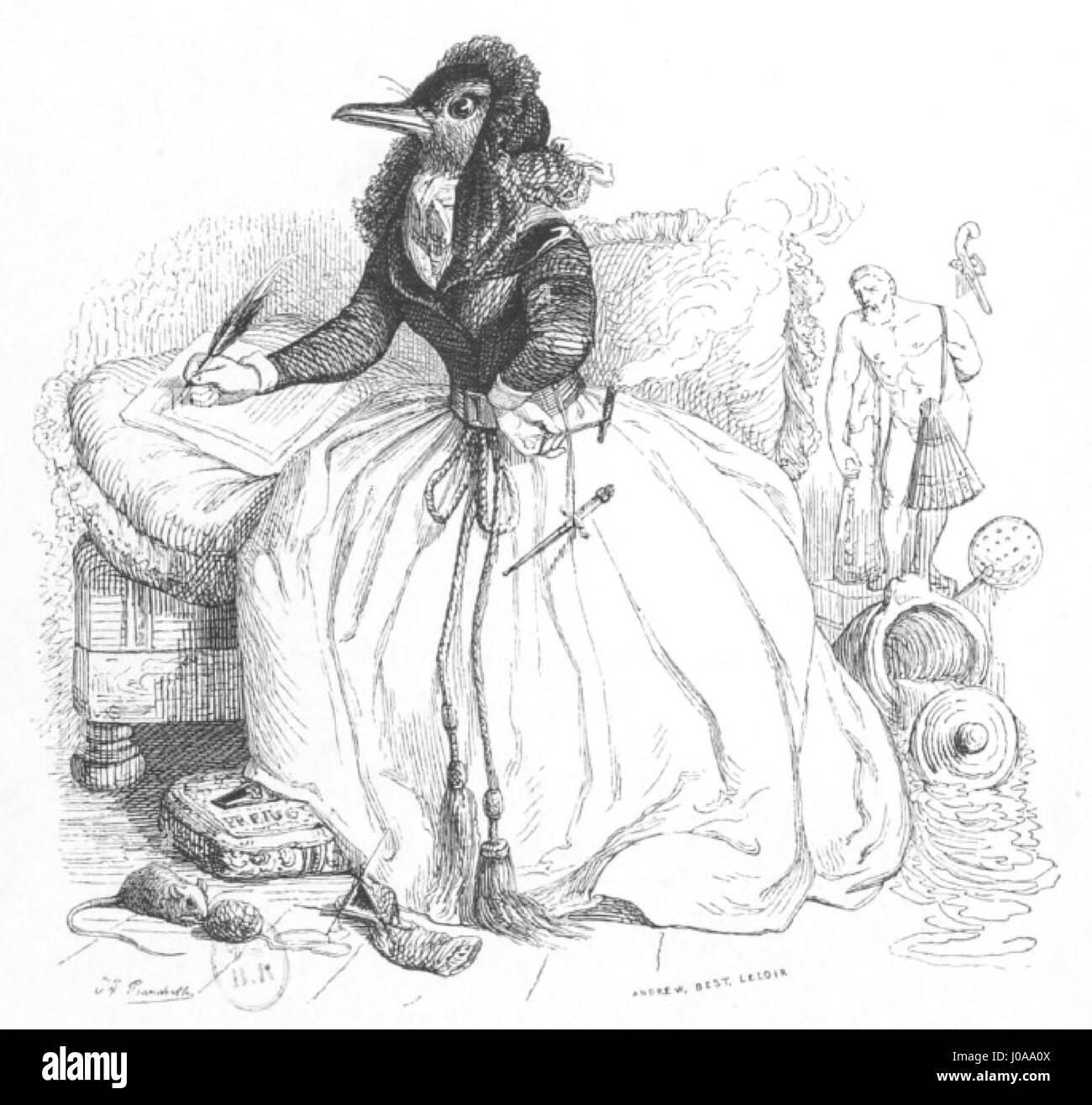 Scènes de la vie privée et publique des animaux, tome 1 0078 - Stock Image