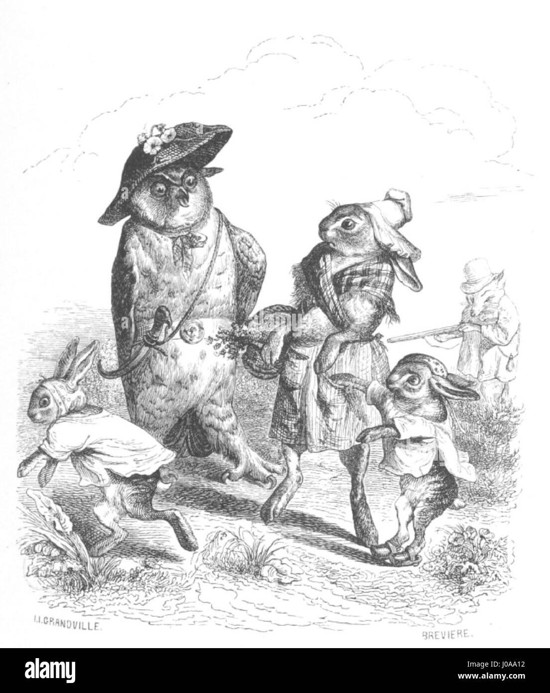 Scènes de la vie privée et publique des animaux, tome 1 0089 - Stock Image