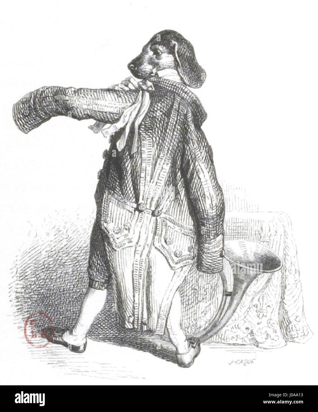 Scènes de la vie privée et publique des animaux, tome 1 0094 - Stock Image