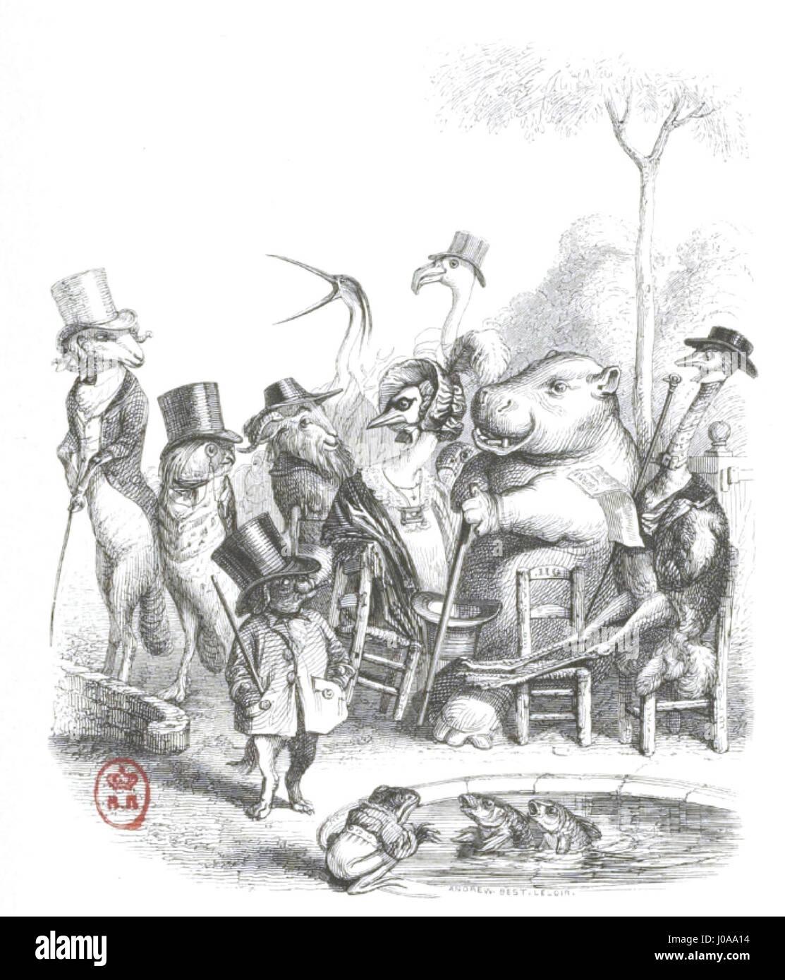 Scènes de la vie privée et publique des animaux, tome 1 0107 - Stock Image