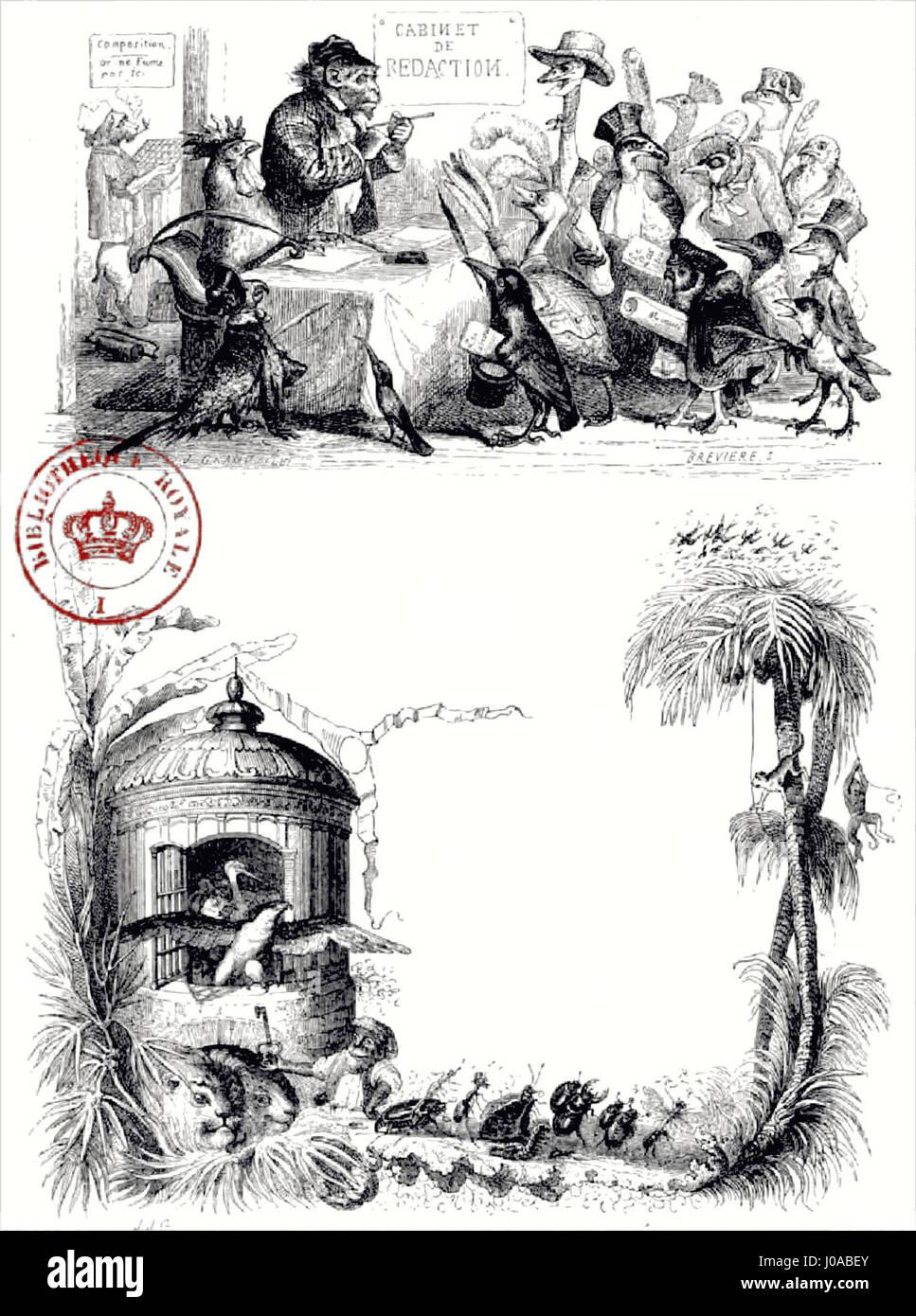 Scènes de la vie privée et publique des animaux, tome 1 0033 - Stock Image