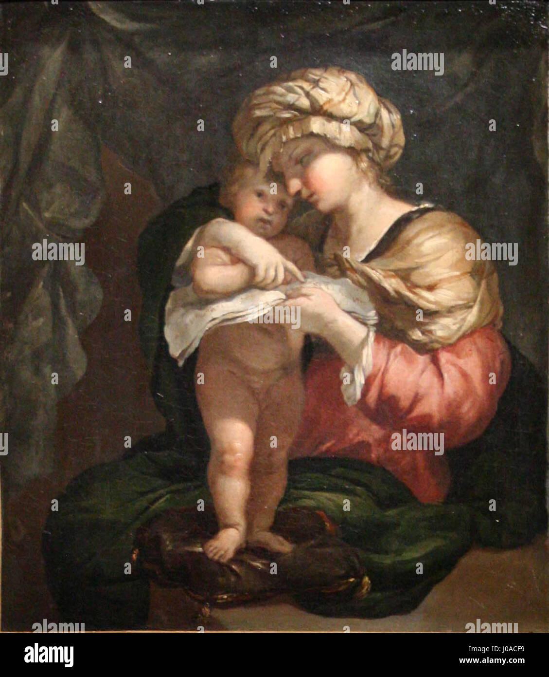 Pierre Puget - La Vierge apprenant à lire à l'Enfant Jésus - Stock Image