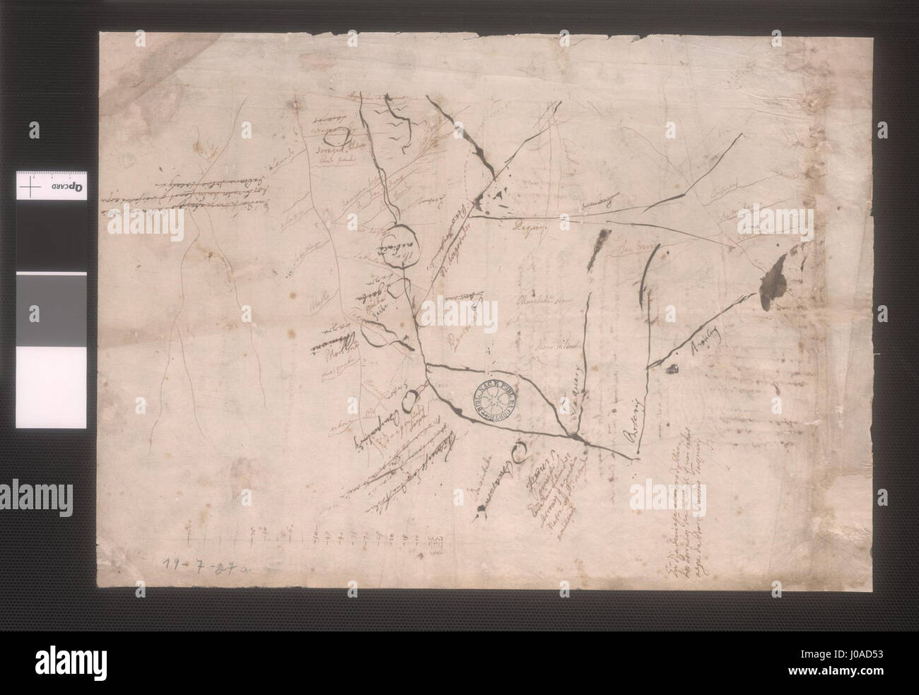 Primitive Map of the Upper Paraguay River and Its Tributaries Cuiaba ...
