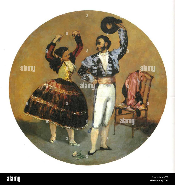 Édouard Manet - Danseurs espagnols (RW 320) - Stock Image
