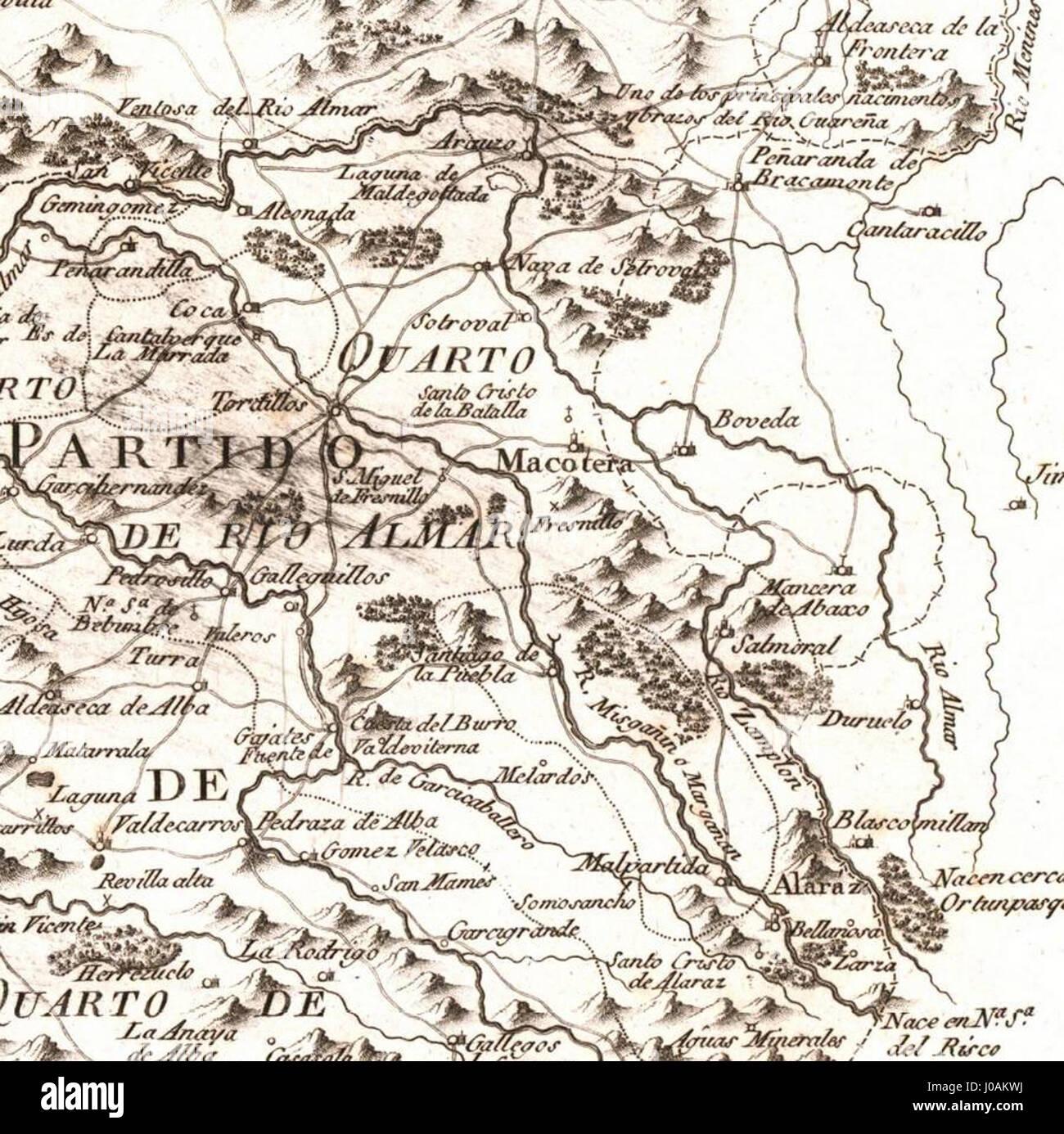 Provincia De Salamanca Mapa.Quarto Del Rio Almar Mapa Geografico De La Provincia De