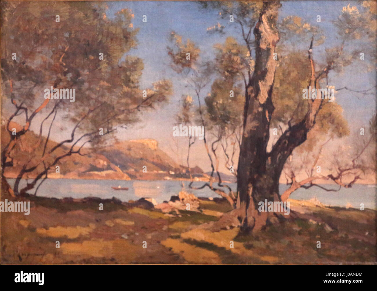 Henri Harpignies-arbres à Bealieu - Stock Image
