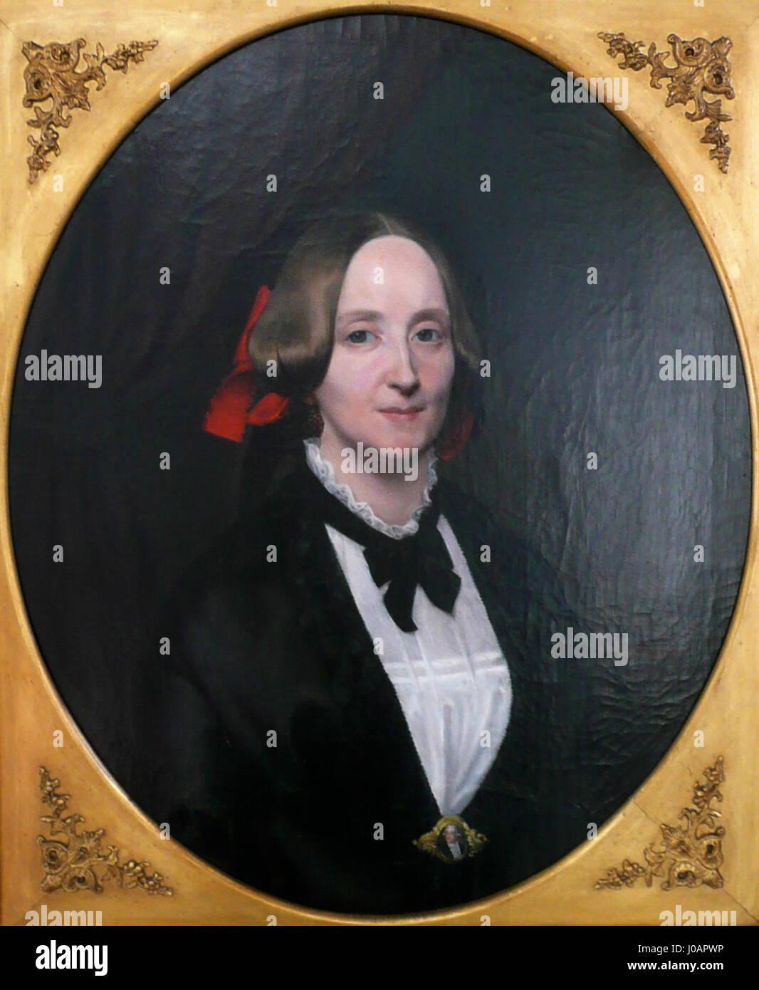 Porträt Emilie Dorothea Auguste Wilhelmine von Pogrell, geborene Harten - Stock Image