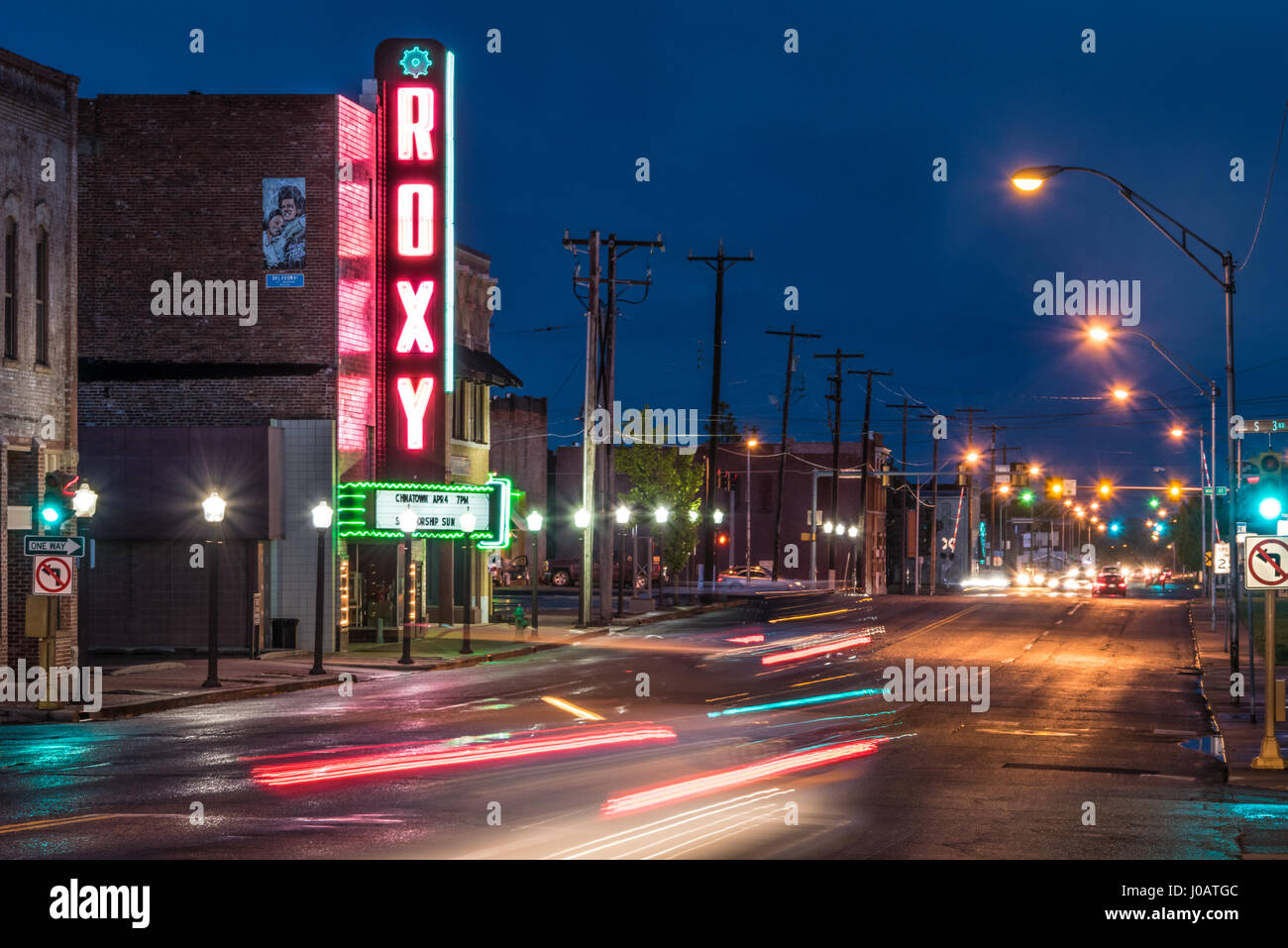 The Roxy Theater in downtown Muskogee, Oklahoma. (USA) - Stock Image