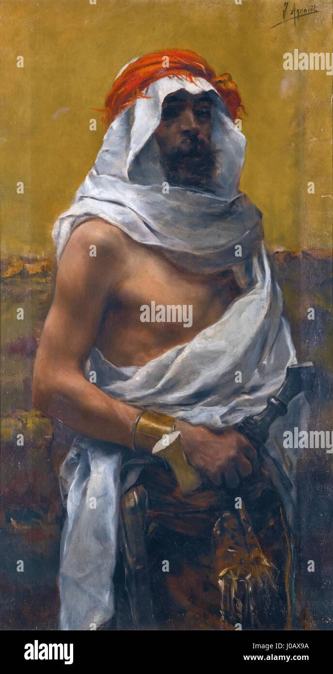 Joaquín Agrasot - Un hombres árabes - Stock Image