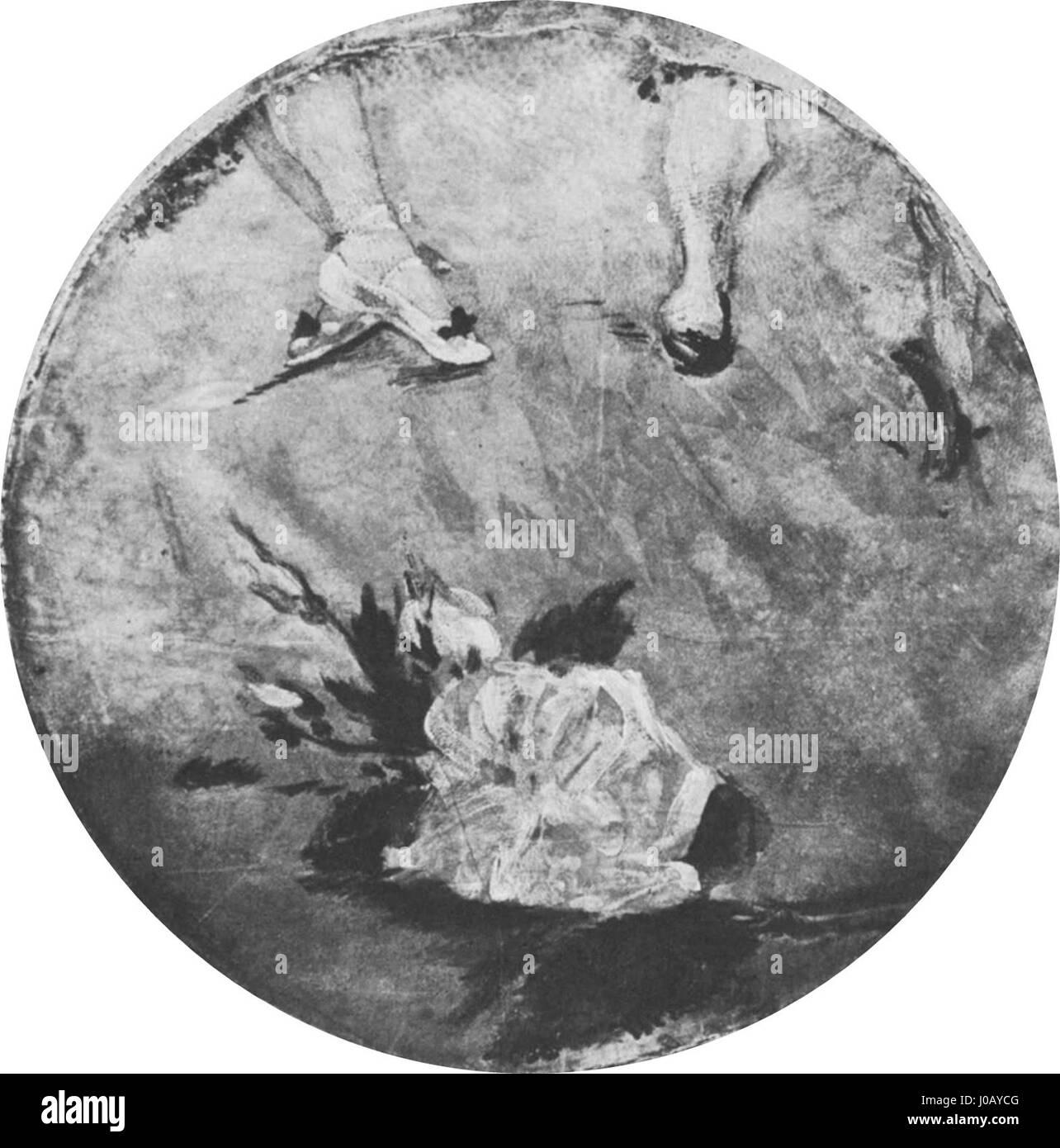 Édouard Manet - Chaussons de danse (RW 324) - Stock Image