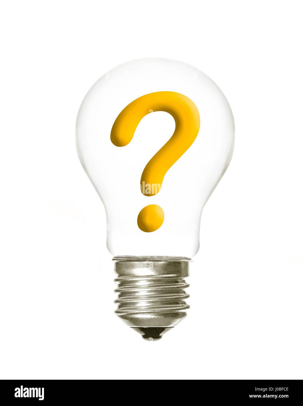 question mark inside light bulb stock photos question mark inside