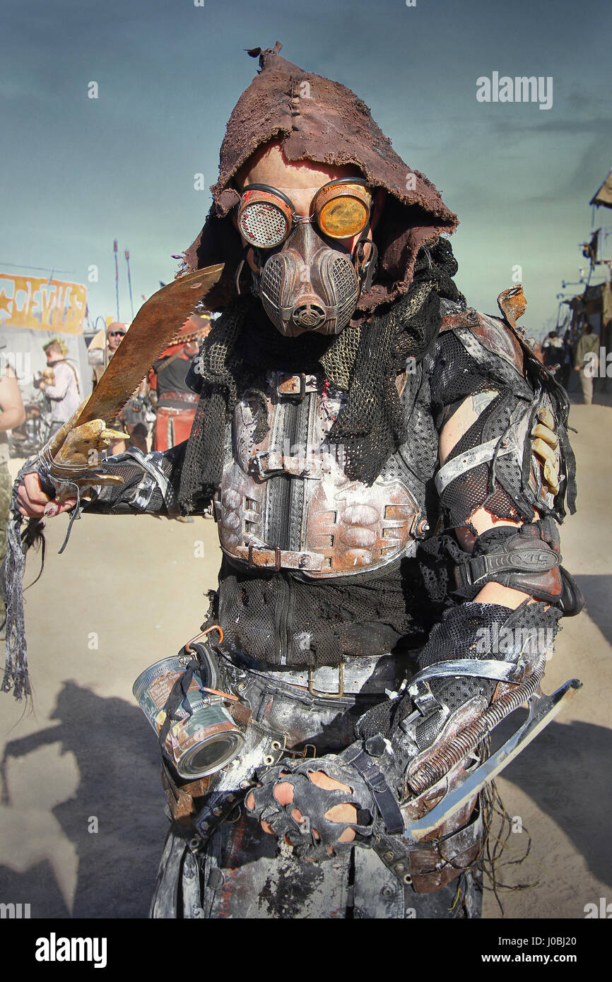 CALIFORNIA, USA: INCREDIBLE pictures have emerged from the annual festival that celebrates a post-apocalyptic world - Stock Image