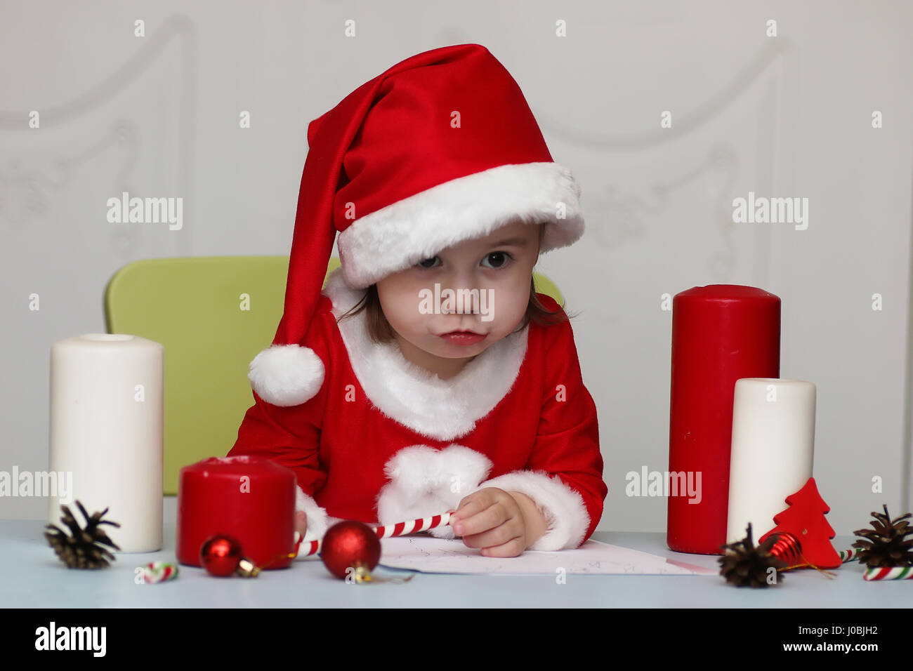 Children Writing Letter Santa Claus Stock Photos  Children Writing