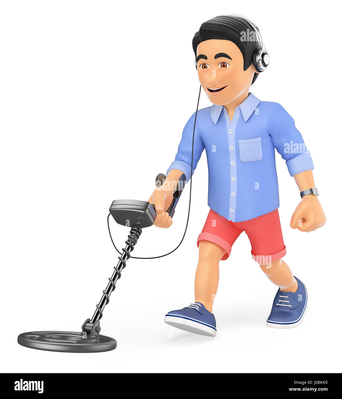 Jew Detector: Man Holding A Metal Detector Stock Photos & Man Holding A