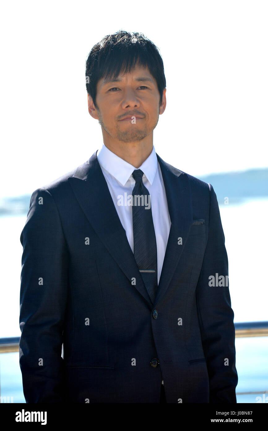 mip tv 2017 actor hidetoshi nishijima stock photo 137941111 alamy