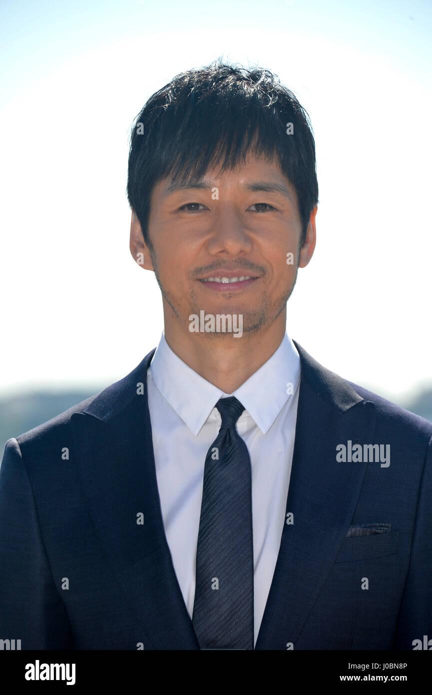 mip tv 2017 actor hidetoshi nishijima stock photo 137941126 alamy
