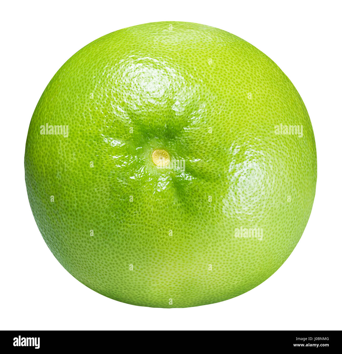 Green grapefruit, sweetie, white grapefruit isolated on white background with clipping path - Stock Image