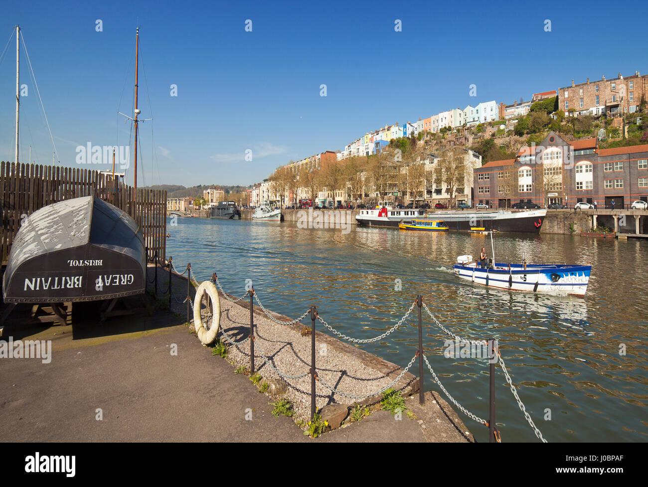 Bristol Harbour Hotwells area. - Stock Image