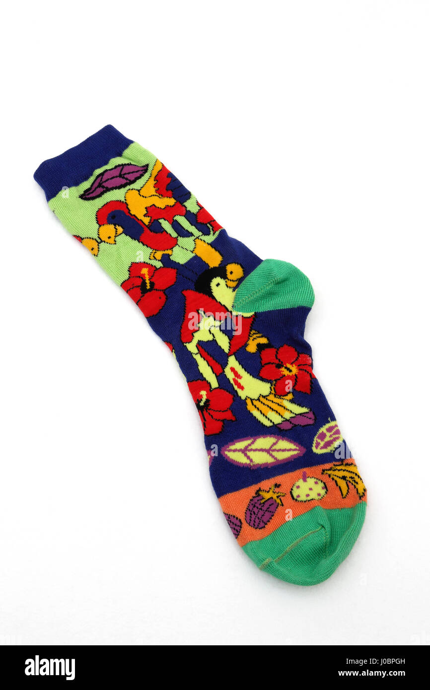 A Colourful Sock From The Caribbean - Stock Image