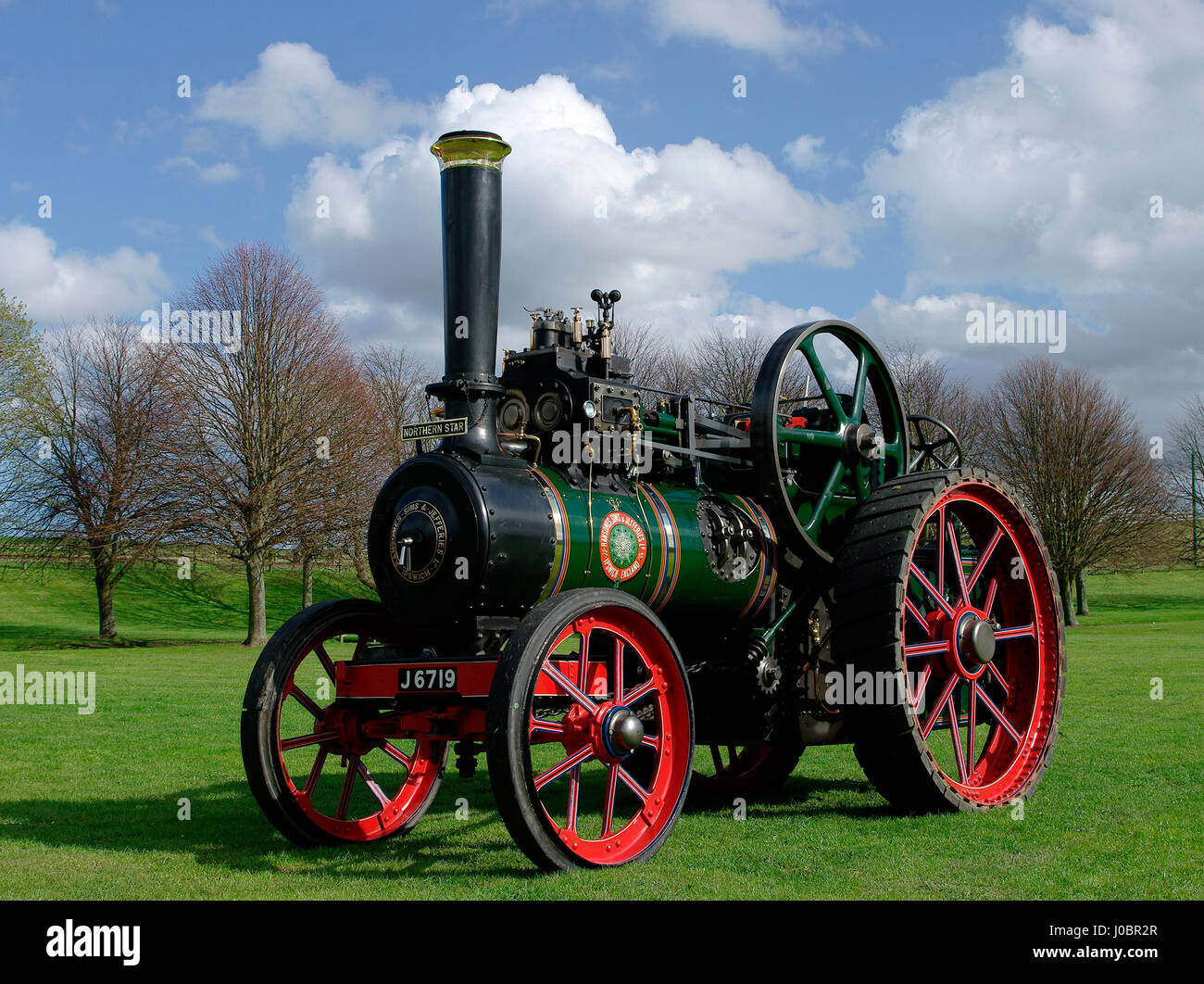 Ransomes Traction Engine - Stock Image