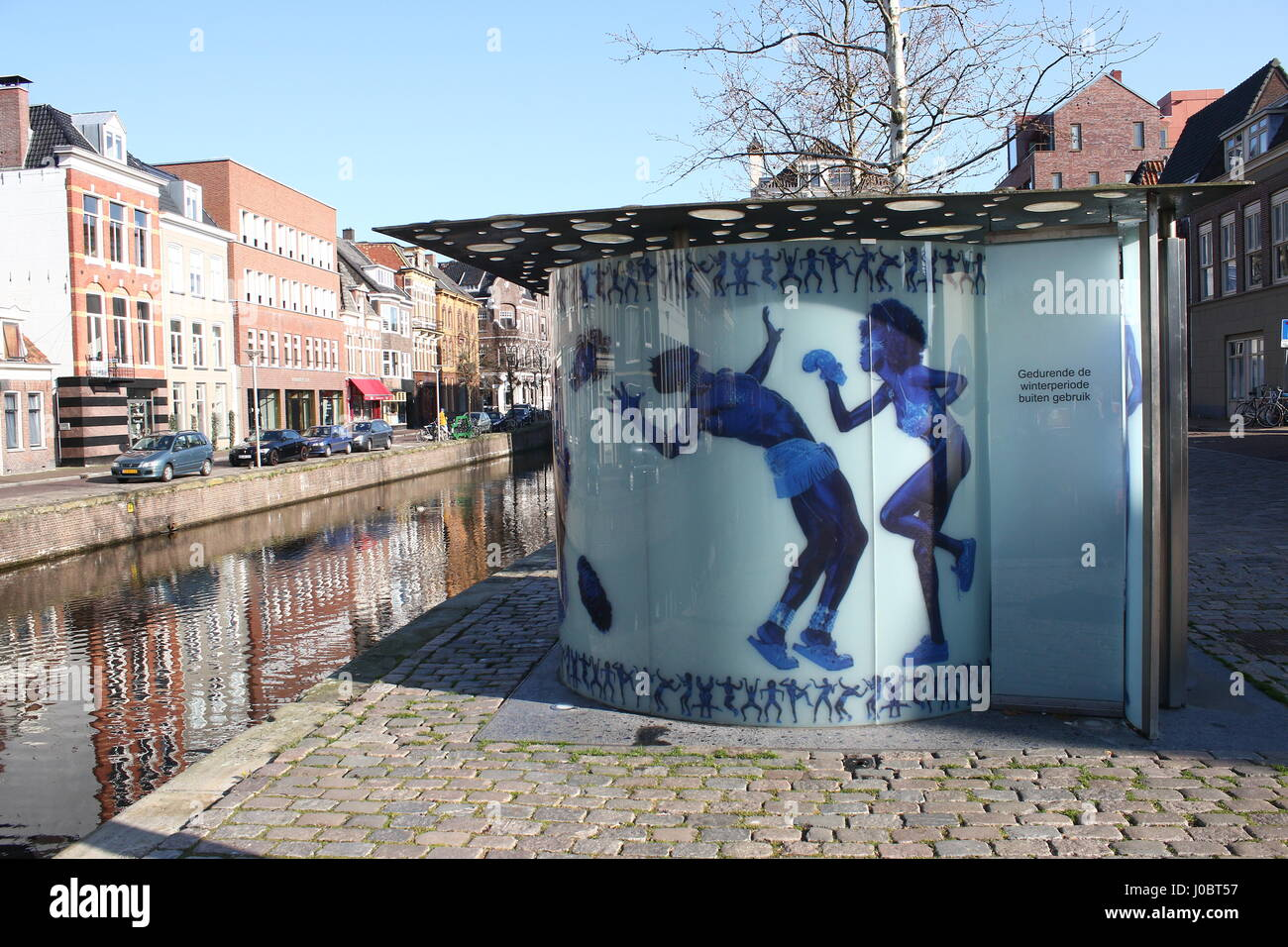 Public toilet designed by Dutch architect Rem Koolhaas (OMA) & photographer Erwin Olaf, at Reitemakersrijge - Stock Image