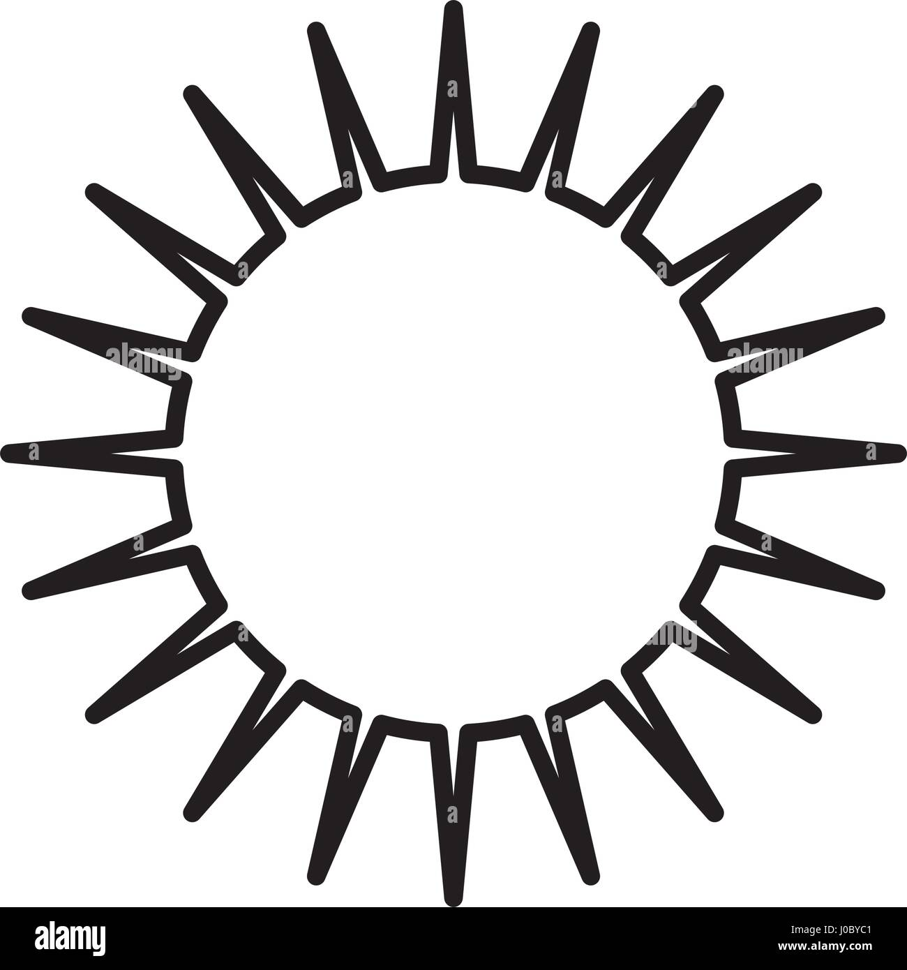 sun day weather outline - Stock Vector