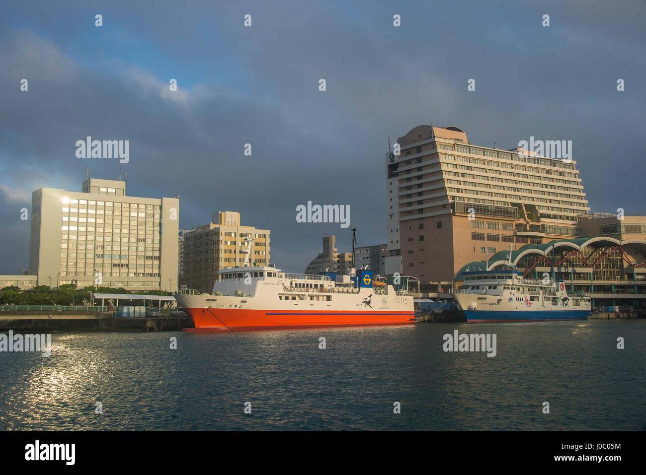 The Harbour area of Naha, Okinawa, Japan, Asia - Stock Image