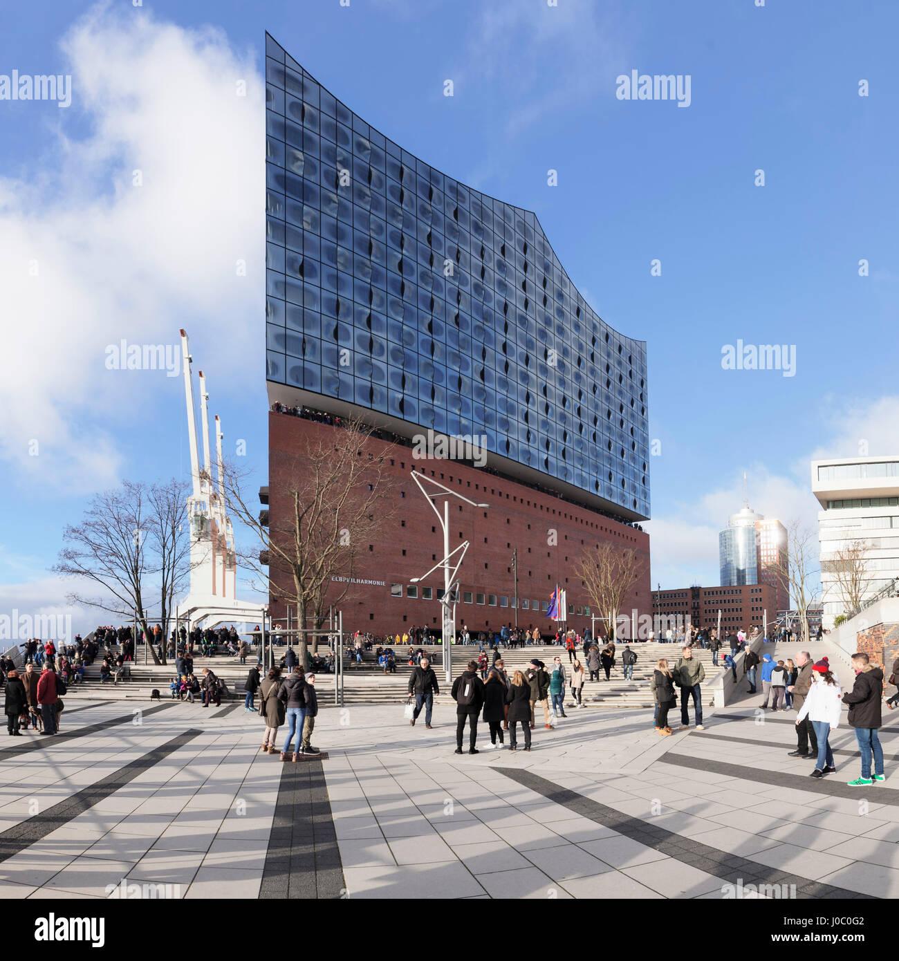 Elbphilharmonie, HafenCity, Hamburg, Hanseatic City, Germany - Stock Image
